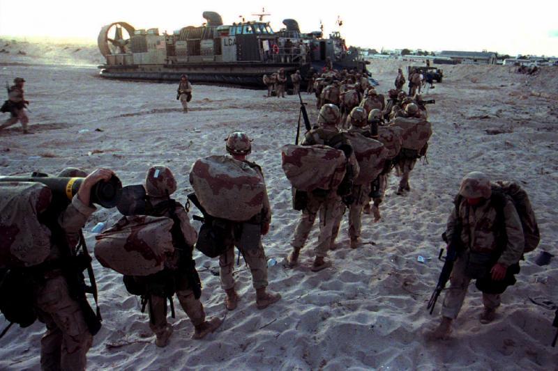 U.S. Marines in Mogadishu, Somalia, March 1995