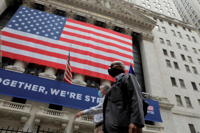 Outside the New York Stock Exchange,May 2020