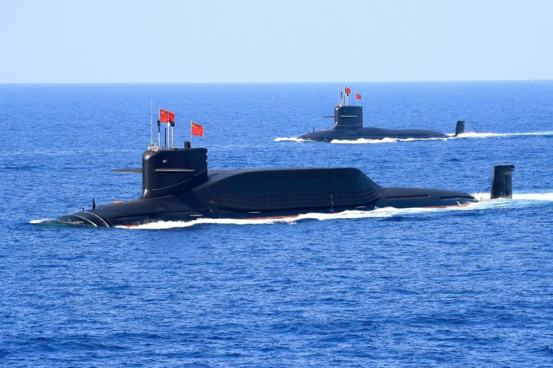 A Chinese ballistic missile submarine in the South China Sea, April2018