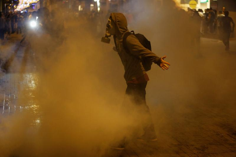 Riot police fire tear gas during clashes with protesters inIstanbul, Turkey, July2013