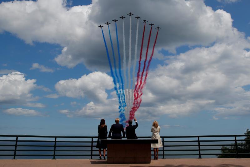 Trump in Normandy, France,June2019