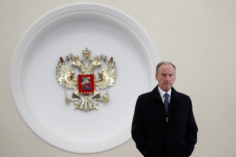 Nikolai Patrushev, the Secretary of Russia's Security Council,at the Kremlin in Moscow, October2018