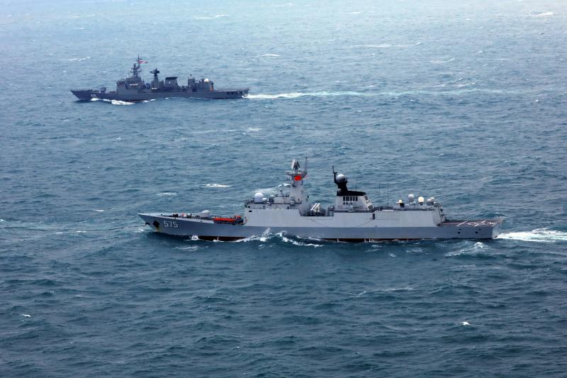 A Chinese-Thai joint naval exercise off the Chinese coast, May2019