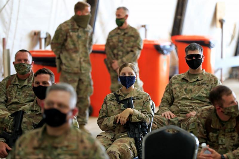 U.S. soldiers in Taji military base north of Baghdad, Iraq, August2020