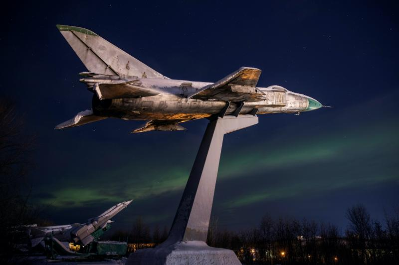 Decommissionedaircraft near Murmansk, Russia, October2019