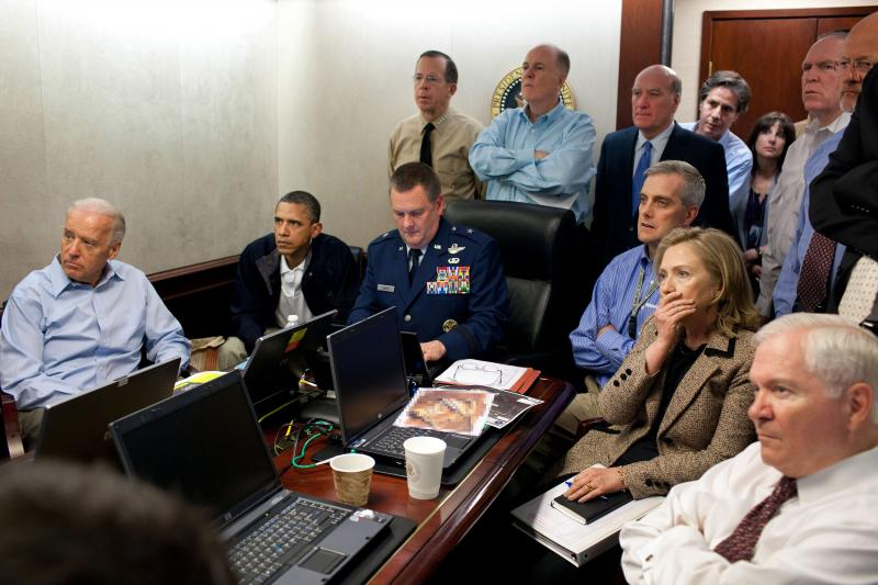 Clinton in the Situation Room, Washington, D.C., May 2011