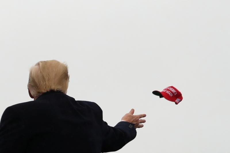 El presidente de los Estados Unidos, Donald Trump, en campaña en Allentown, Pensilvania, octubre de 2020