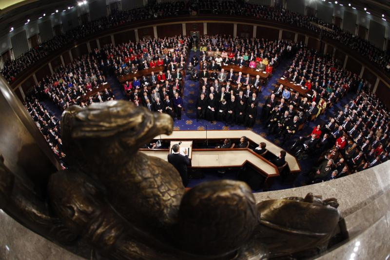 U.S. President Barack Obama'sState of the Union address in Washington, D.C., January 2011