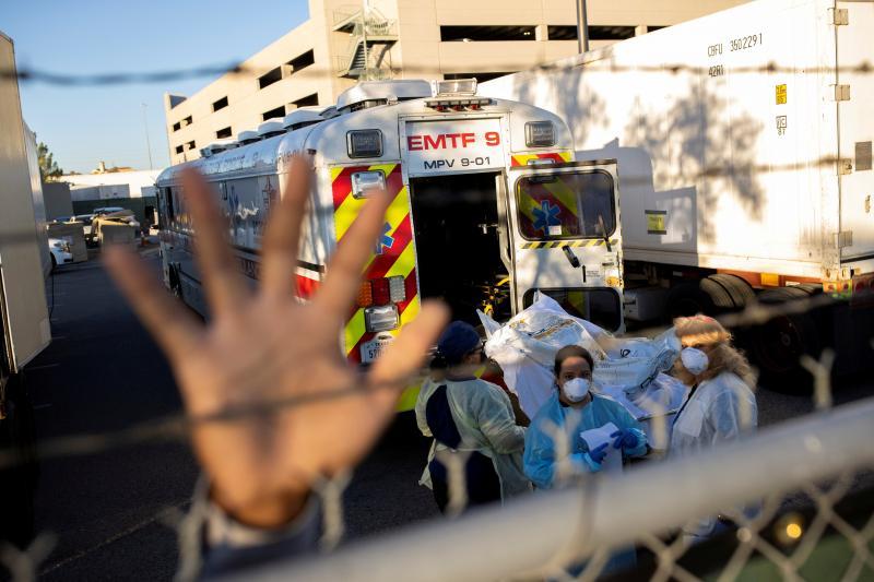 The El Paso medical examiner's office during a surge of COVID-19 cases, El Paso, Texas, November 2020