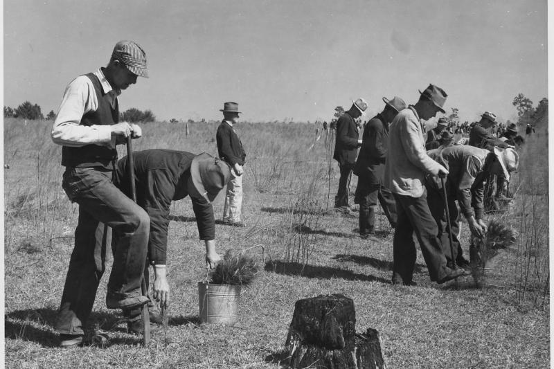 Civilian Conservation Corps workers,1933