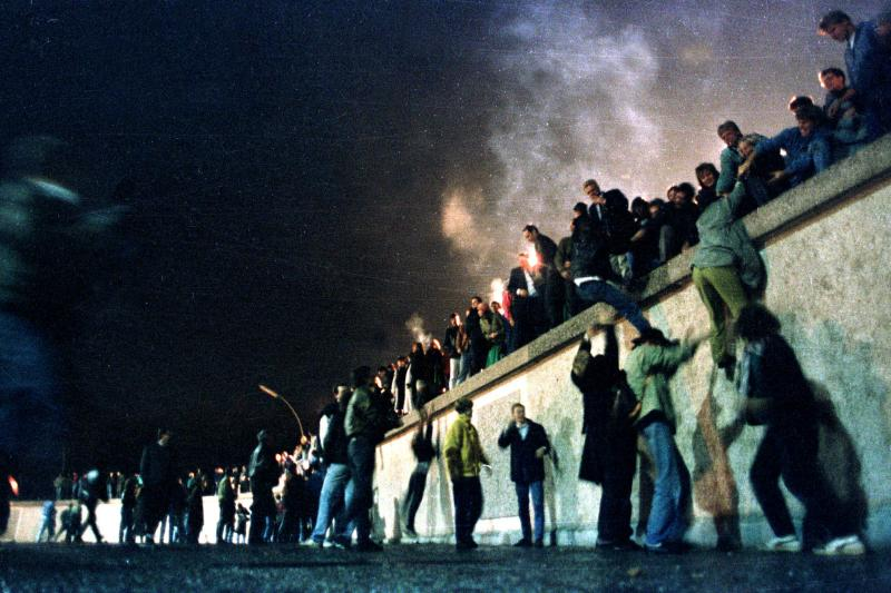 The Berlin Wall, November 1989