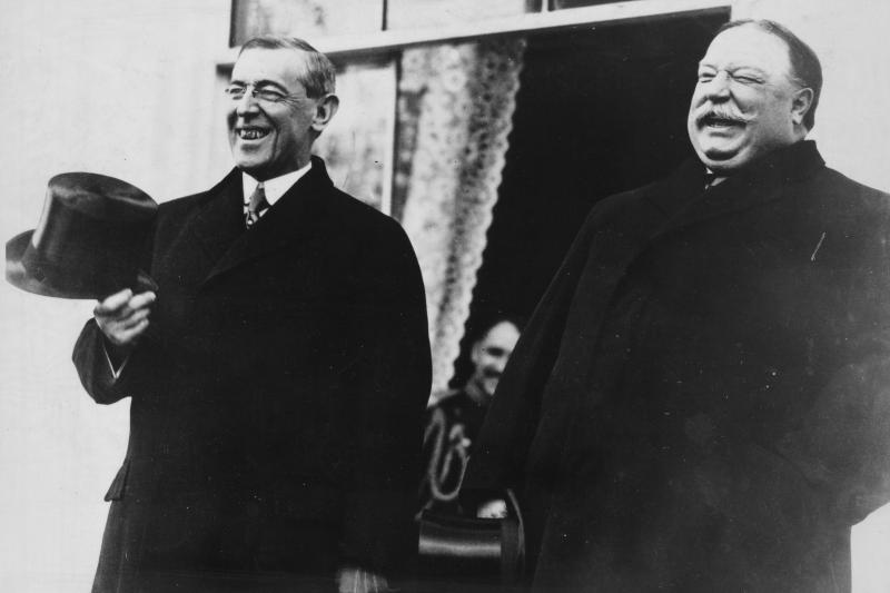 Wilson and Taft in Washington, D.C., 1913