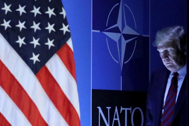 Trump atthe NATO Summit in Brussels, Belgium, July2018