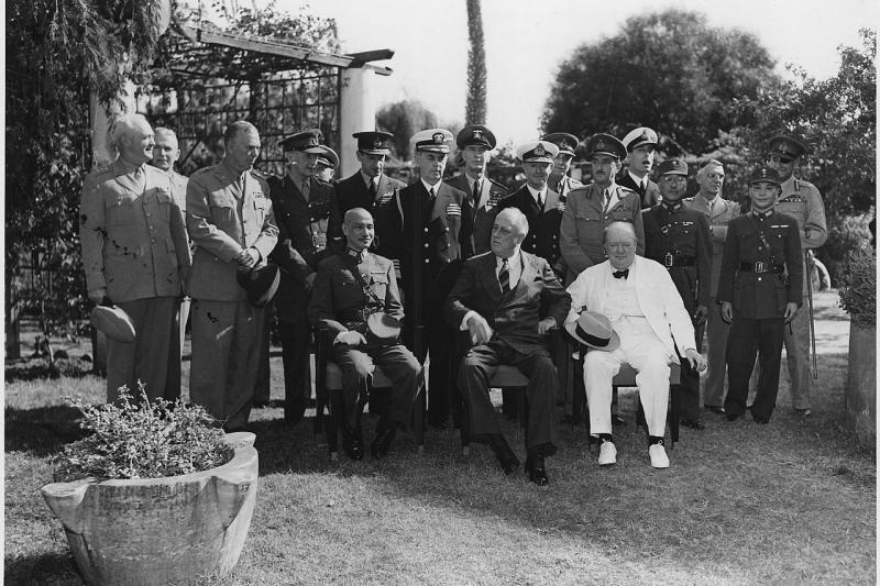 At the Cairo conference, 1943