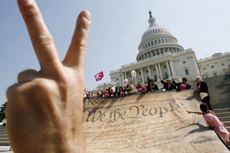 Protesting the Iraq warin Washington, D.C., September 2007
