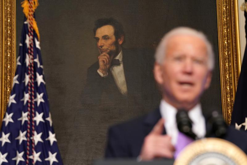 Biden in Washington, D.C., January 2021