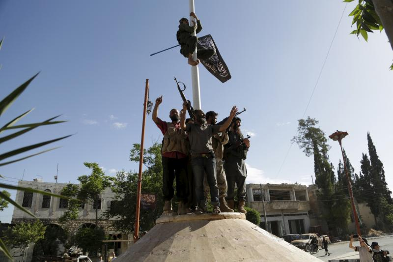 Members of Jabhat al-Nusra in Ariha, Syria,May2015