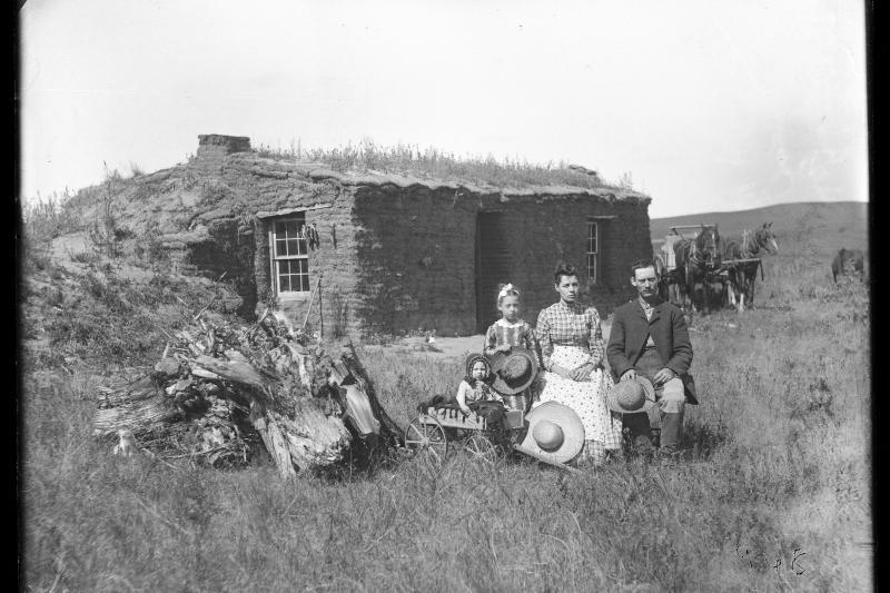 Homesteaders in Custer County, Nebraska, 1889