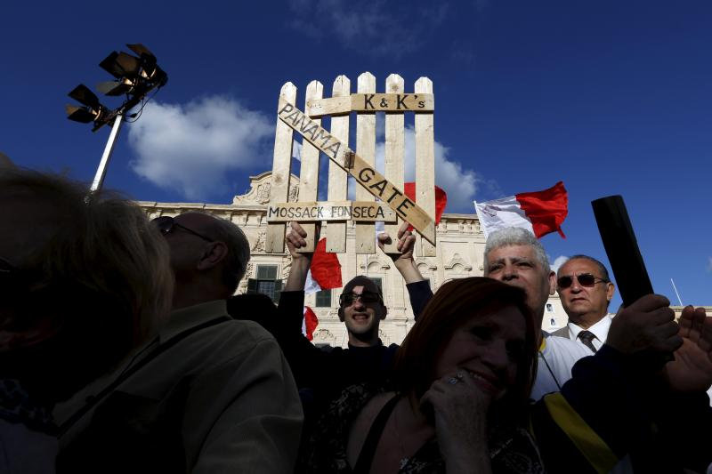 Anticorruption protests in Valletta, Malta, April 2016