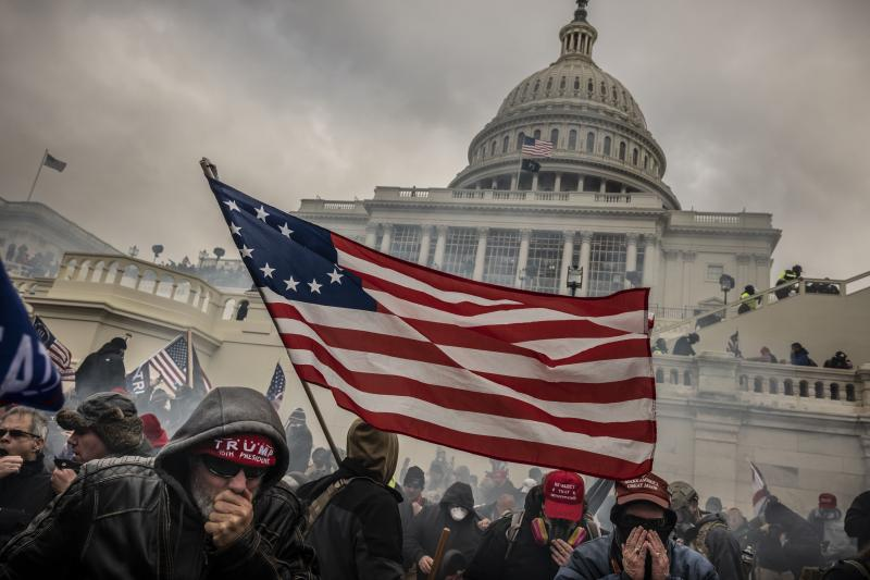 Rioting at the U.S. Capitolin Washington, D.C., January2021