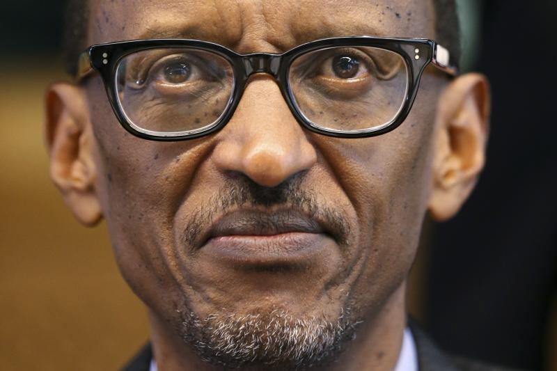 Kagame in Brussels, April 2014