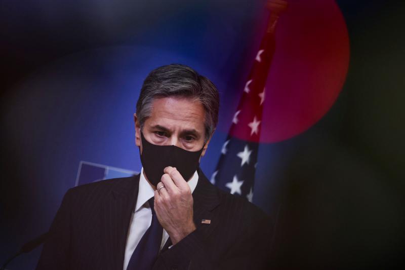 El secretario de Estado de los Estados Unidos, Antony Blinken, en Bruselas, Bélgica, abril de 2021