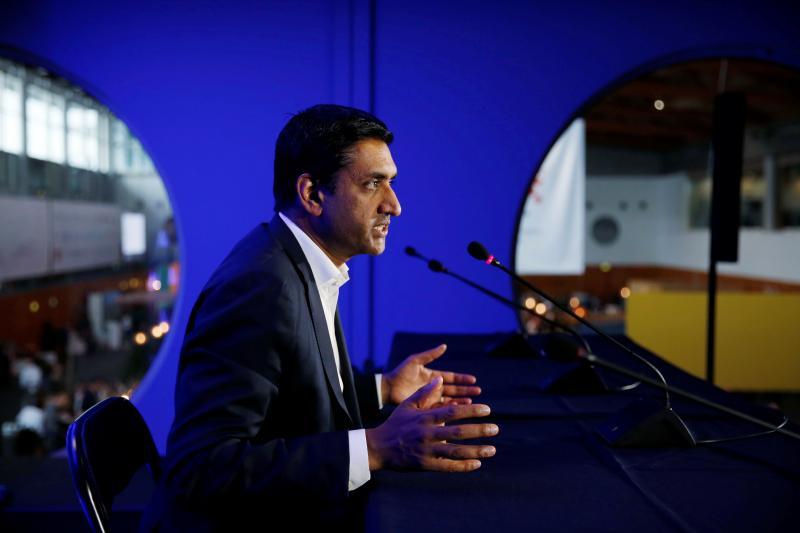 U.S. Democratic Representative Ro Khanna in Lisbon, Portugal, November2019