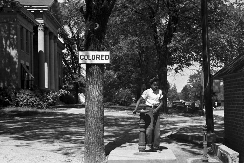 A segregated water fountain in North Carolina, 1938