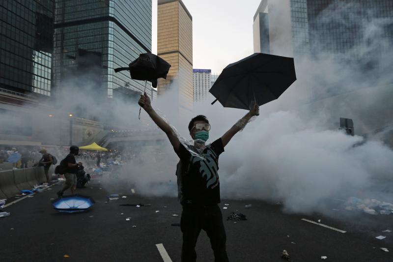 Protesting in Hong Kong, September 2014