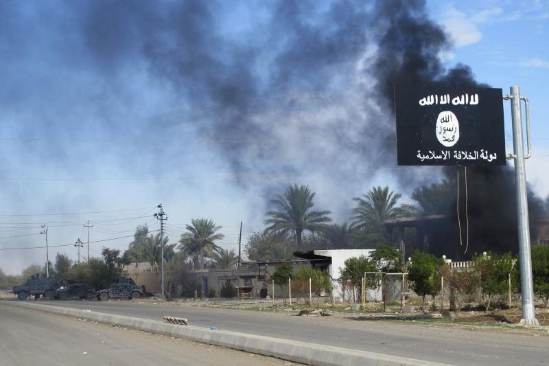 An ISIS flag in Diyala Province, Iraq, November 2014