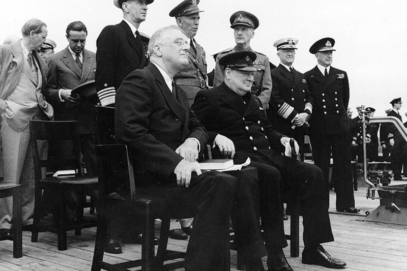 Franklin Roosevelt and Winston Churchill in 1941