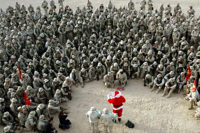 U.S. Marines in Kuwait, December 2002