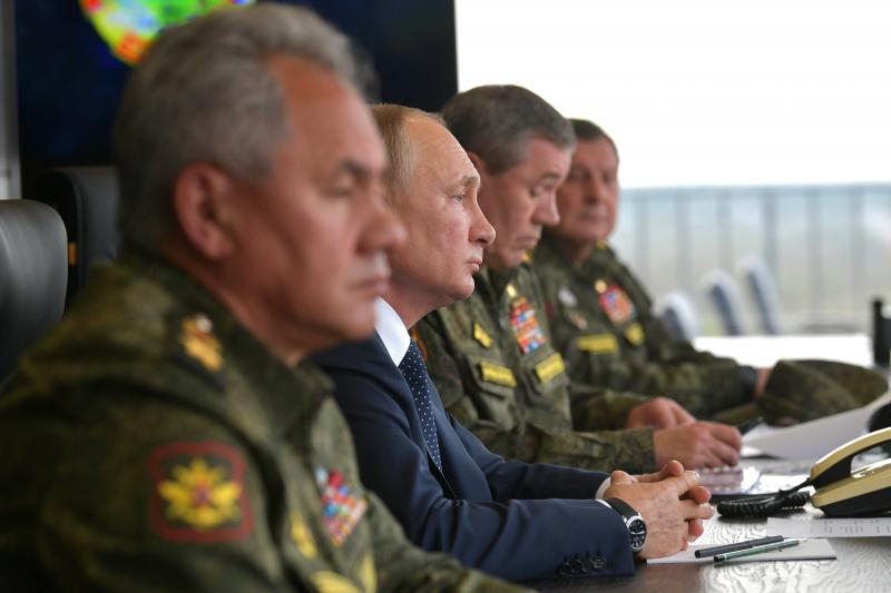Observing Russian military exercises the Nizhny Novgorod region, Russia, September 2021