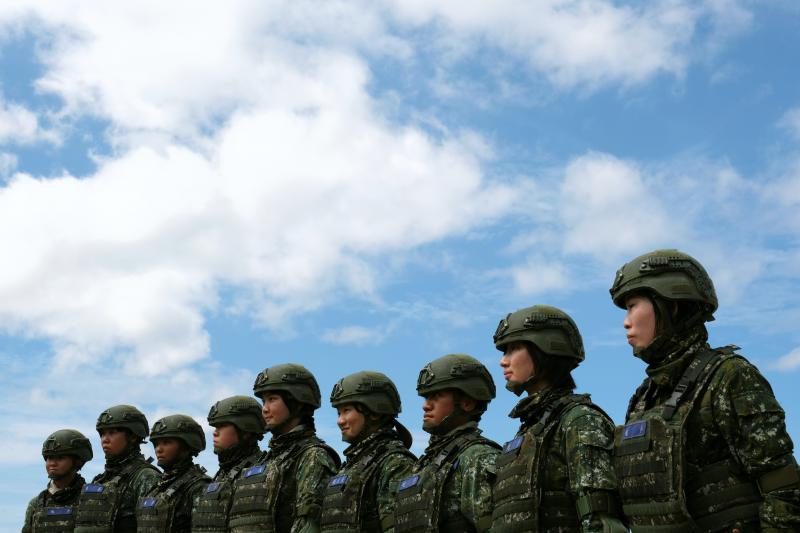 At a Taiwanese military exercise simulating a Chinese invasion in Pingtung, Taiwan, May 2019