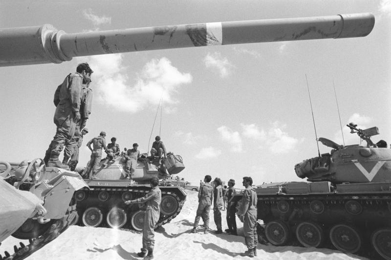 Israeli soldiers during the Yom Kippur War, 1973