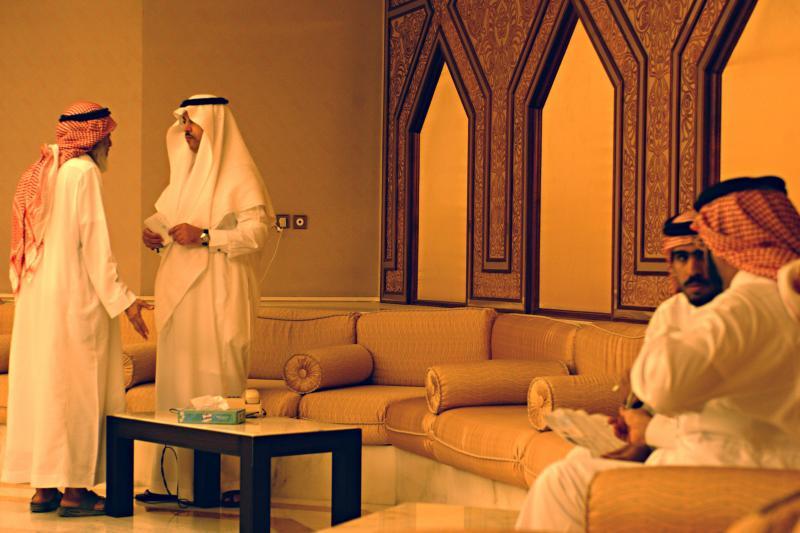Members of the Majlis ash-Shura, Saudi Arabia's royal consultative council,in Riyadh,July 2003