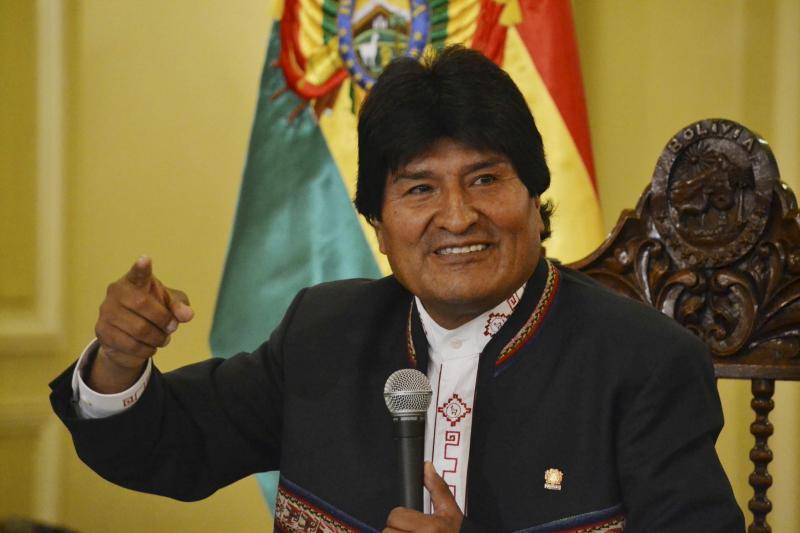 Morales during a news conference in La Paz, February2016