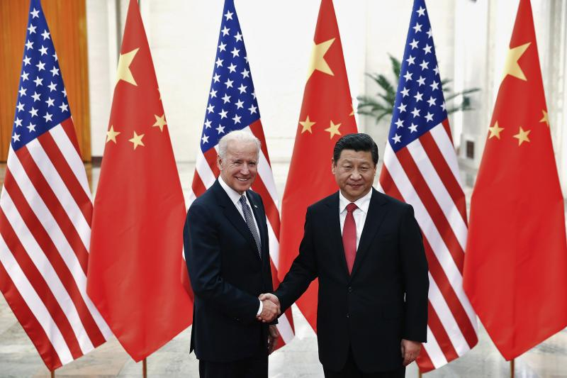 Biden and Chinese President Xi Jinping in Beijing, December 2013