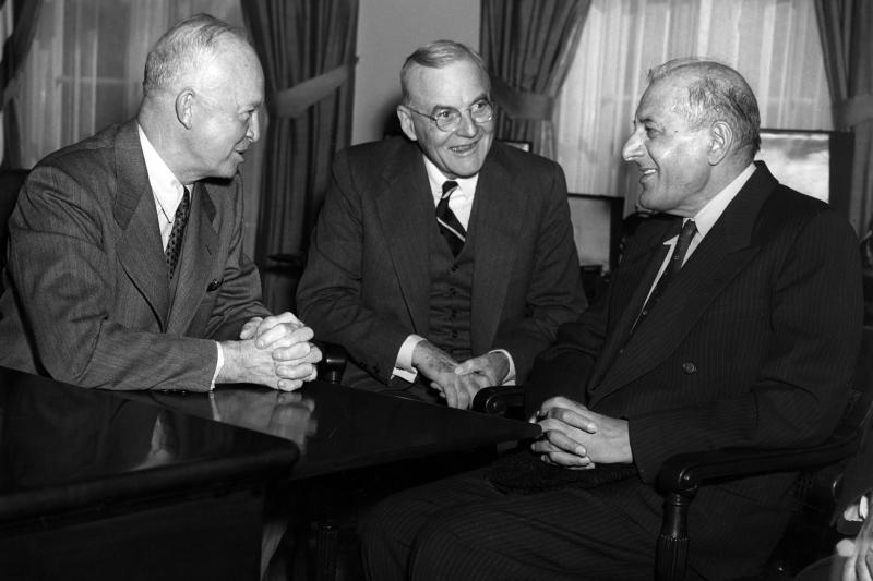 Eisenhower, Dulles, and the Governor General of Pakistan, November 1953