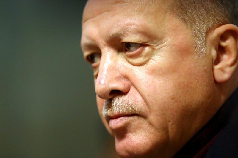 Erdogan in Geneva, Switzerland, December 2019