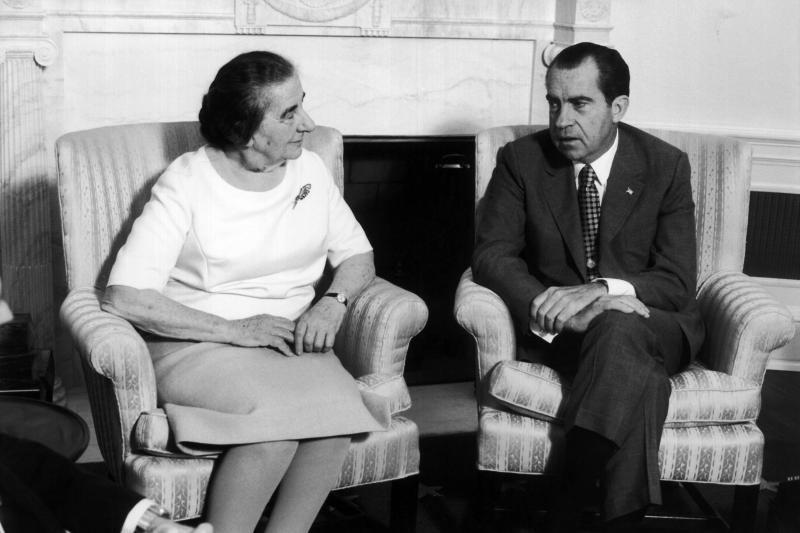 Meir and Nixon in the White House, Washington, D.C., September 1970