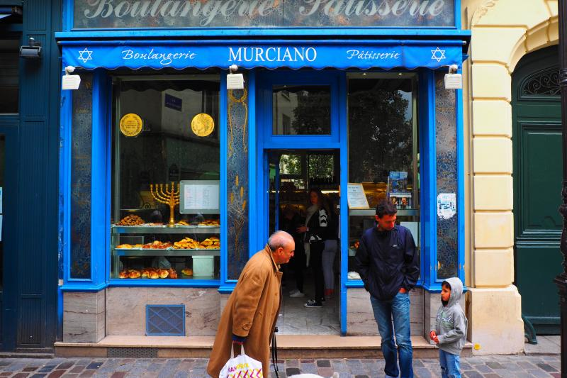 A Jewish bakery in Paris, France, May 2015