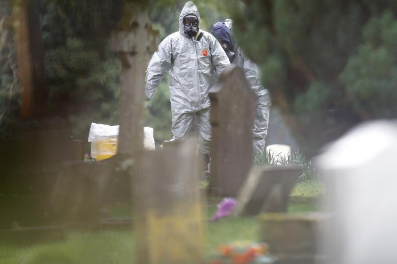 Emergency servicesin Salisbury, United Kingdom, after the poisoning of former Russian inteligence officer Sergei Skripal, March2018