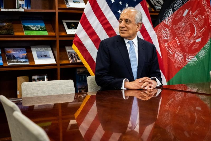 Khalilzad, the U.S. special envoy to Afghanistan, in Kabul, January 2019