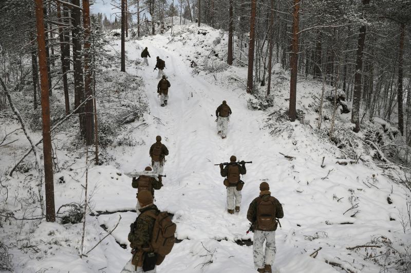 U.S. marinesnear the Russian border inNorway, October 2019