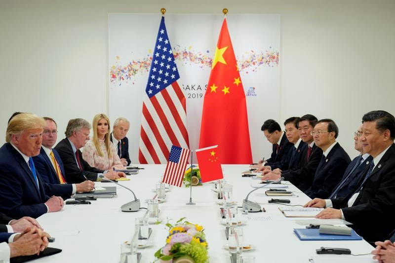 Trump and Xi at the G20 summit in Osaka, Japan, June 2019