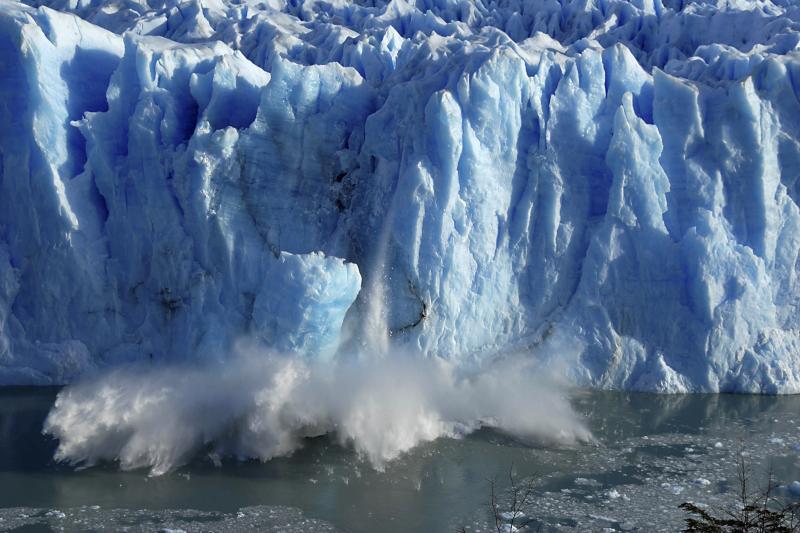 A melting glacier in El Calafate, Argentina, July 2008