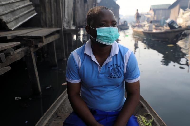 A man at the Makoko community in Lagos, Nigeria, March 2020. Picture taken March 9, 2020