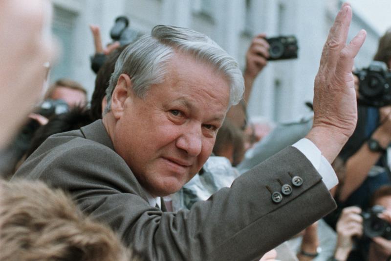 Russian President Boris Yeltsinin Moscow, August 1991