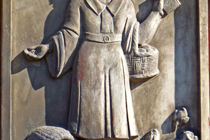 A relief of Frugality on the Česká Spořitelna building, Czech Republic.